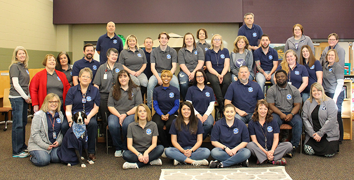 group photo of entire Prairie Learning Center staff
